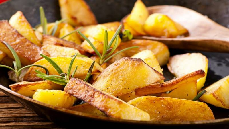 Calories in fried potatoes